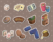 Casino stickers Royalty Free Stock Photography