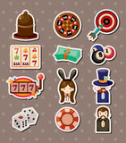 Casino Stickers Royalty Free Stock Images