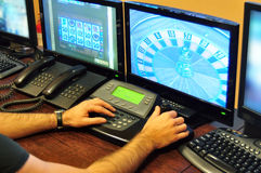 Casino surveillance stock photo