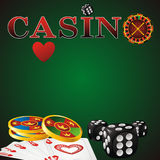 Casino symbols Royalty Free Stock Photography