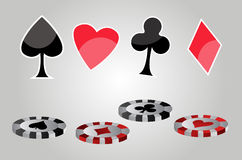 Casino symbols Royalty Free Stock Photos