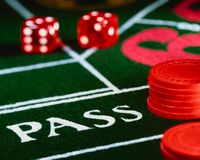 Casino table Royalty Free Stock Images