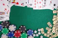 Casino table stock images