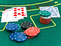 Casino table Royalty Free Stock Photography