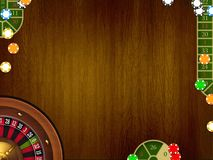 Casino table background Royalty Free Stock Photo