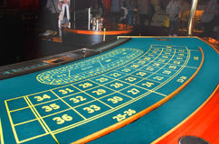 Casino. A table for the European roulette Stock Photo