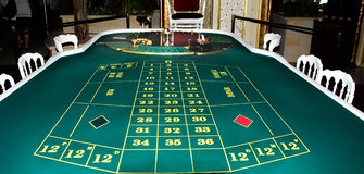 Casino. A table for the European roulette Royalty Free Stock Photography