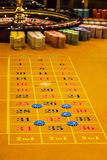 Casino table roulette gambling, play counters. Casino table roulette gambling, play counters royalty free stock photography