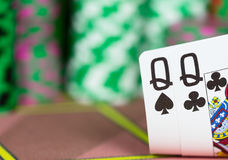 Casino Texas Hold`em Poker game. Stock Photography