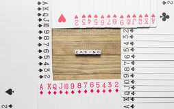 Casino text cube concept art Royalty Free Stock Images