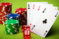 Casino theme Royalty Free Stock Photography