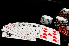 Casino theme with dark background Royalty Free Stock Image