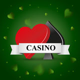 Casino theme with preference Royalty Free Stock Image