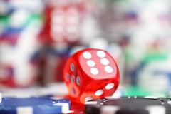 Casino. Theme, set of different  objects royalty free stock image