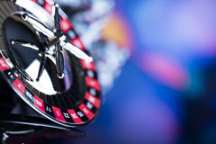 Casino. Theme, set of different  objects stock photo