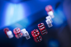 Casino. Theme, set of different  objects stock photography