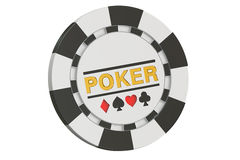 Casino token, 3D rendering Royalty Free Stock Image