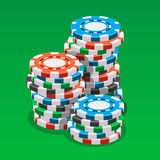 Casino token isometric vector illustration Royalty Free Stock Photography