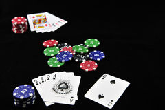 Casino Token and poker Stock Images