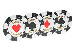 Casino Tokens, 3D rendering Royalty Free Stock Photo