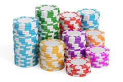 Casino Tokens, 3D rendering Royalty Free Stock Images