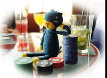 Casino toy. Poker wins celebration Stock Photos