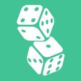 Casino twee die dobbelt Vectorillustratie gokken Stock Afbeelding