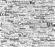 Casino typographic seamless Stock Photos