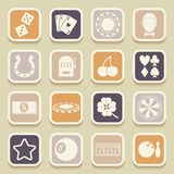 Casino universal icons Stock Image