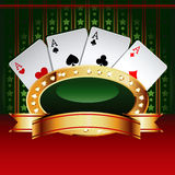 Casino Vector Banner With Cards Stock Photography