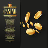 Casino Vector Gambling background. Royalty Free Stock Photos