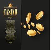 Casino Vector Gambling background. Royalty Free Stock Photos