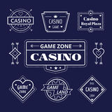 Casino vector logo icons set. Poker, cards or game Royalty Free Stock Photography