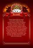 Casino Vectorachtergrond Royalty-vrije Stock Afbeeldingen