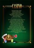 Casino Vectorachtergrond Royalty-vrije Stock Foto's
