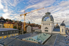 Casino view in  Evian-les-Bains in France in the New year in win Royalty Free Stock Photography