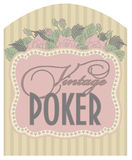 Casino vintage poker card Stock Photography