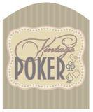 Casino vintage poker label Stock Photos