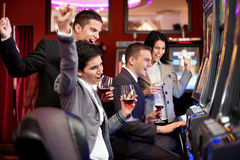 Casino winning Royalty Free Stock Photos