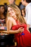 Casino woman Royalty Free Stock Photography