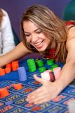 Casino woman winning Royalty Free Stock Image
