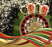 Casino xmas card, New 2016 Year, vector Royalty Free Stock Photos