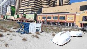 Casino y playa de Atlantic City almacen de video