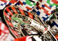 Casino y ruleta imagenes de archivo