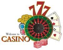 Casino y todas las muestras de él Fotos de archivo libres de regalías