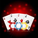 Casinoachtergrond Stock Foto