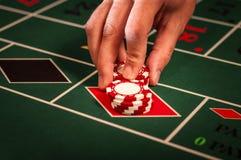 Casinohandelaar Royalty-vrije Stock Foto