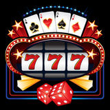 Casinomachine royalty-vrije illustratie