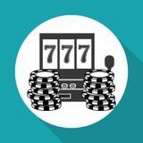 Casinoontwerp Spel en las vegasillustratie Stock Foto's