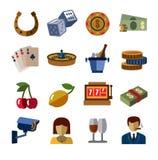 Casinopictogrammen stock illustratie